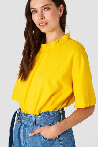 Reishi Blouse (Lemon) - Kings of Indigo