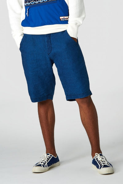 Cronus Shorts (Dark Indigo Linen) - Kings of Indigo
