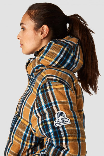 Zhenga Jacket (Camel Flannel Check) - Kings Of Indigo