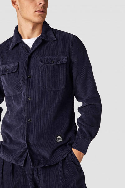 Hakan Corduroy Shirt (Navy) - Kings Of Indigo