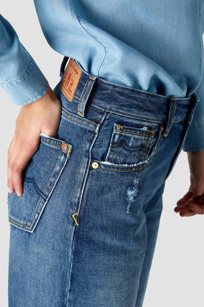 Alice Jeans (Vintage Mid Blue) - Kings Of Indigo