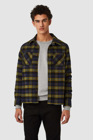 Juntoku Shirt (Brushed Green Check) - Kings of Indigo