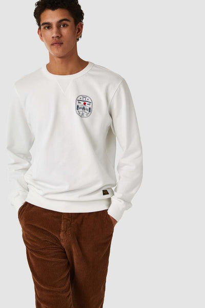 Stephen Sweatshirt (Japan Barrel White) - Kings of Indigo