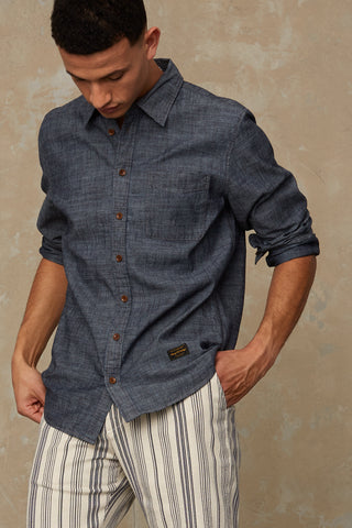 Enda Pocket Shirt (Chambray) - Kings of Indigo