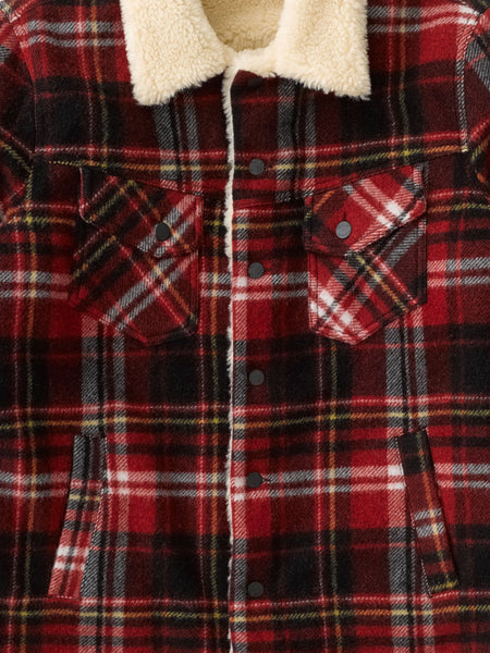 Lenny Plaid Jacket (Red Alert) - Nudie Jeans