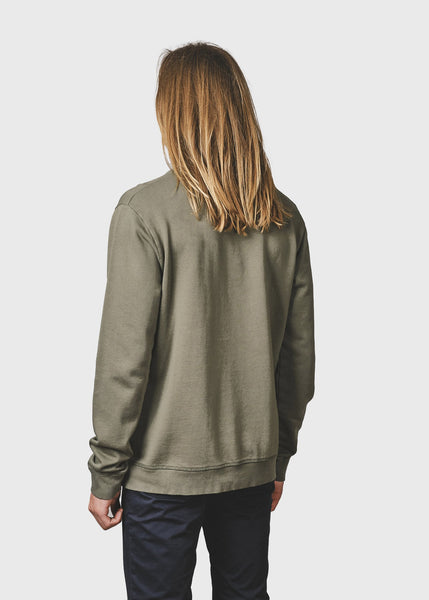 Men's Logo Crew (Olive) - Klitmøller Collective
