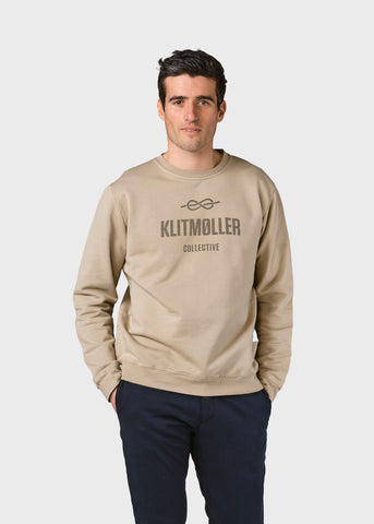 Men's Logo Crew (Sand) - Klitmøller Collective