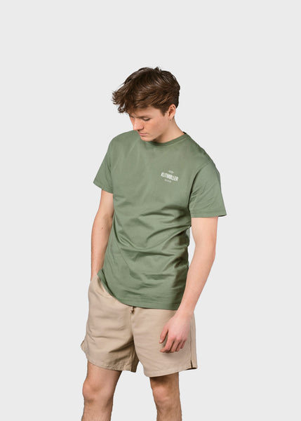Mens small logo tee (Pale Green) - Klitmøller Collective