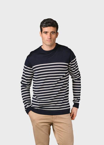 Kenneth Knit (Navy/Cream) - Klitmøller Collective