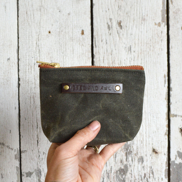 Waxed Canvas Pouch - Peg and Awl
