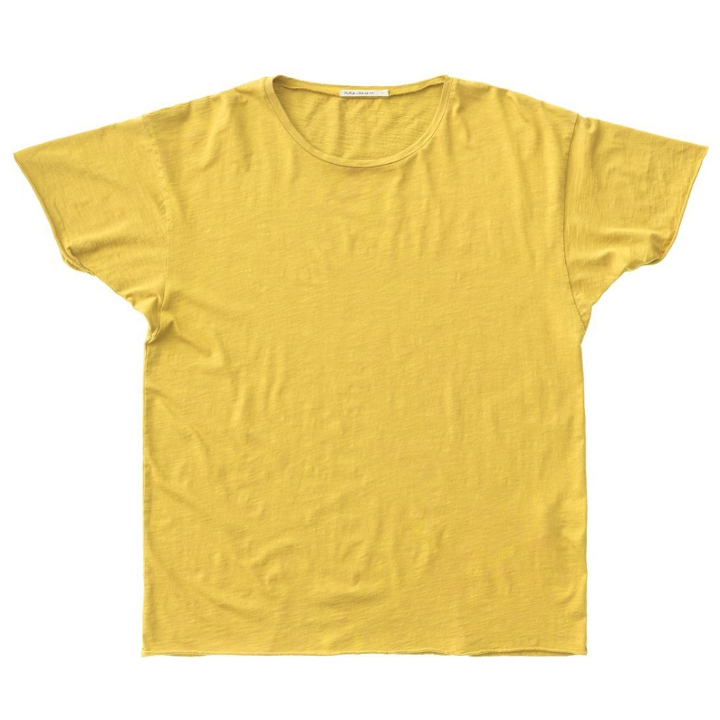 Roger Slub T-shirt (Sun Yellow) - Nudie Jeans