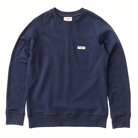 Samuel Logo Sweatshirt (Midnight) - Nudie Jeans