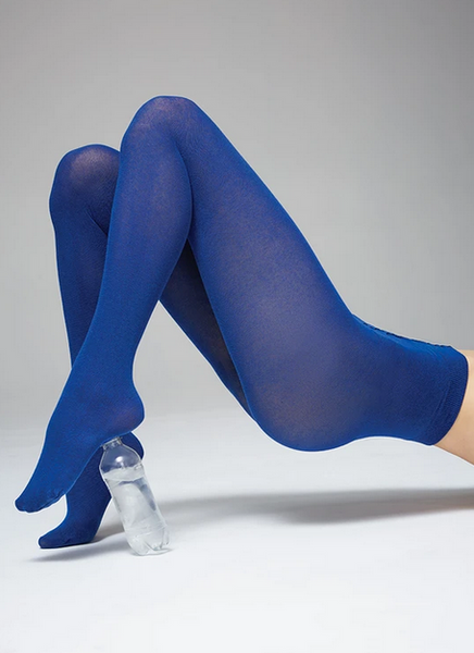 Polly Innovation Tights (Sea Blue) - Swedish Stockings