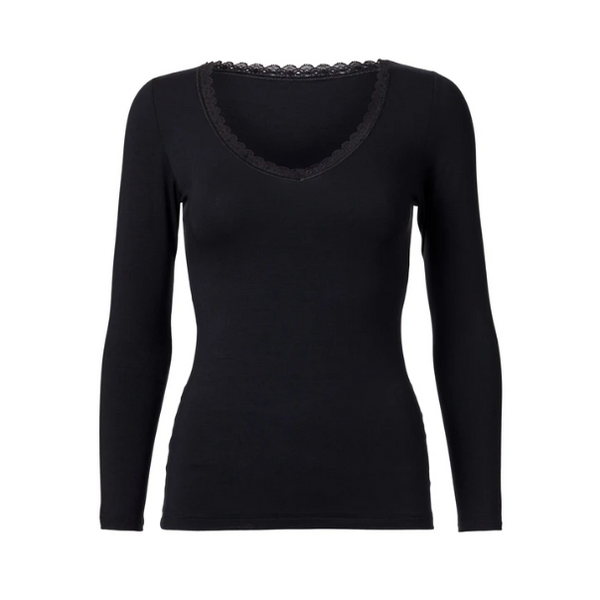 Blouse Venus Long Sleeve (Black) - WORON