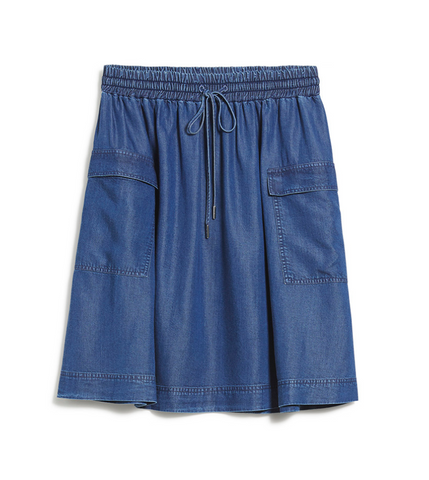 Alonaa Skirt (Denim Blue) - ARMEDANGELS