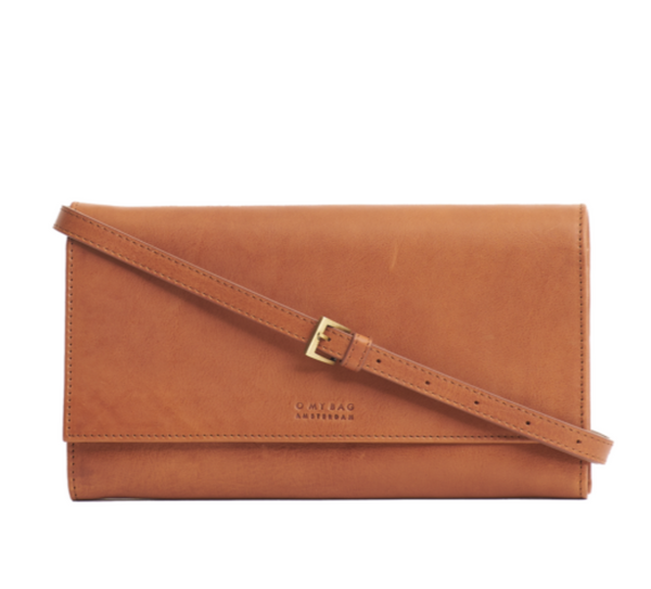 Kirsty Clutch (Cognac Stromboli Leather) - O MY BAG