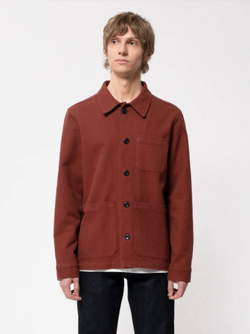 Barney Worker Jacket (Brick Red) - Nudie Jeans