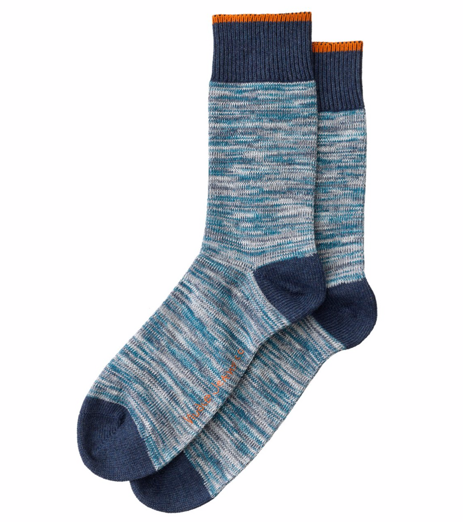 Rasmusson Multi Yarn Socks (Blue) - Nudie Jeans