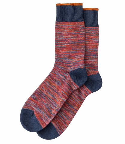 Rasmusson Multi Yarn Socks (Red) - Nudie Jeans