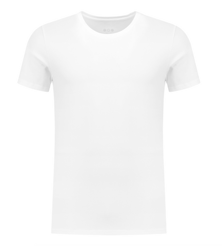 Ties Extra Long T-shirt White - A-dam