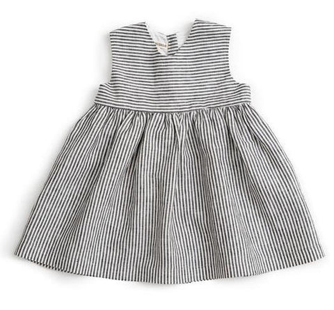 Sleeveless Dress (Striped Linen) - As We Grow
