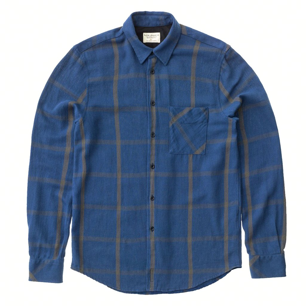 Sten Window Check (Oden Blue) - Nudie Jeans