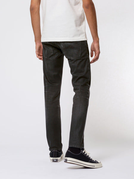 Thin Finn Coated Black - Nudie Jeans