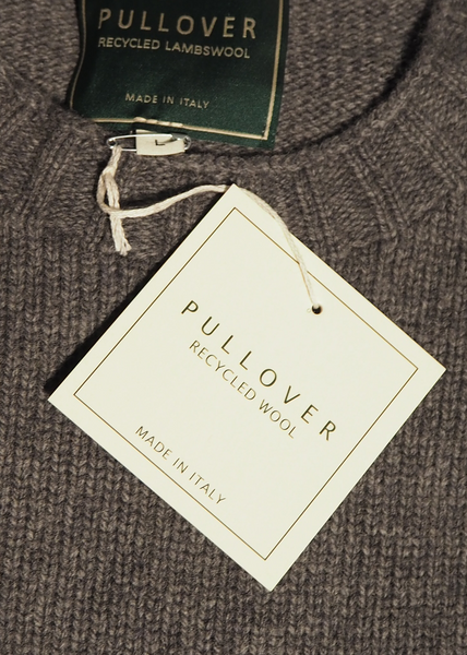 Lambswool Recycled Sweater (Grey) - Pullover