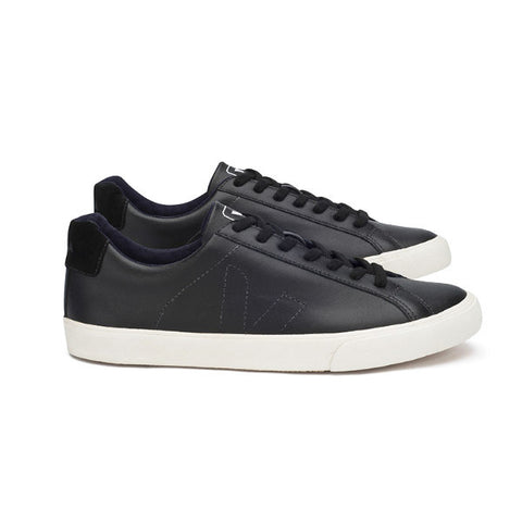 Esplar Low Leather Black Pierre Black - VEJA Shoes