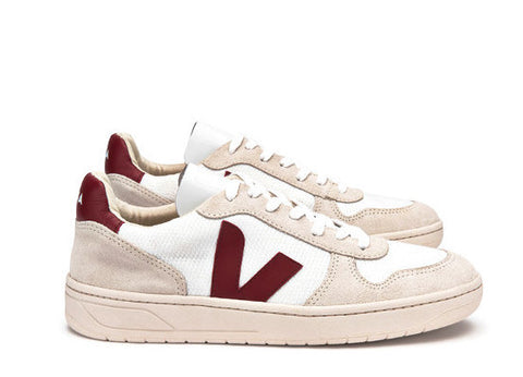 V10 B Mesh White Natural Marsala - VEJA Shoes