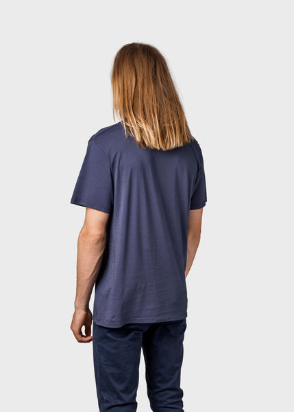 Mens small logo tee (Navy) - Klitmøller Collective