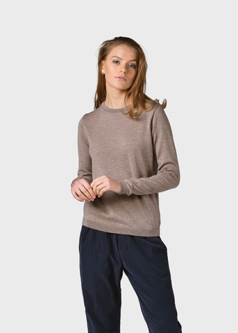 Womens Basic Merino Knit (Sand) - Klitmøller Collective