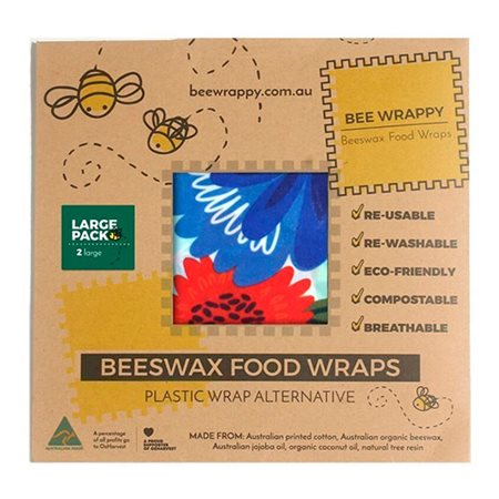 Bee Happy Beeswax Food Wraps (Large) - Nature Team