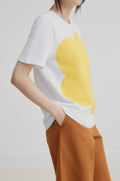 Big Flower Tee (Yellow) - Kowtow
