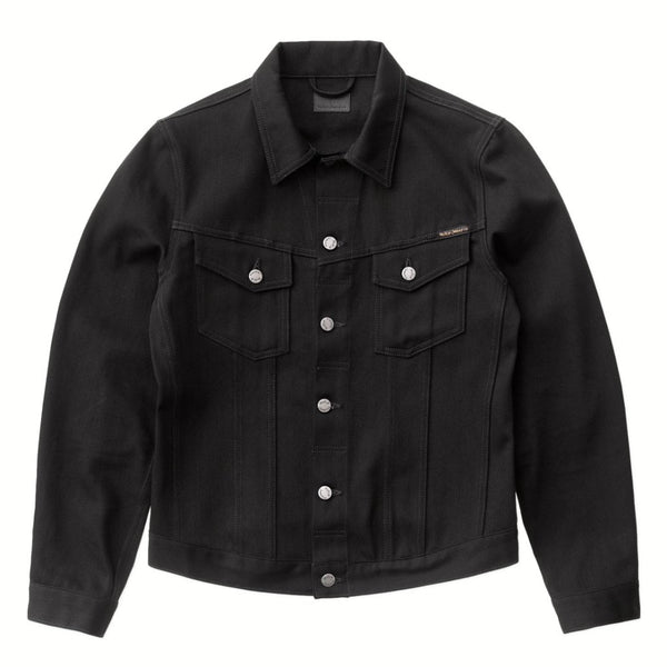 Billy Dry Black Denim Jacket - Nudie Jeans