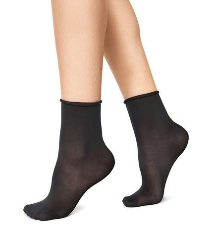 2-Pack Judith Socks (Black/Black) - Swedish Stockings