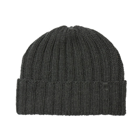 Merino Thick Rib Hat (Charcoal Grey) - Dinadi