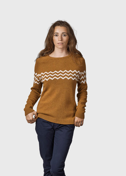 Cecilie Knit (Amber/Cream) - Klitmøller Collective