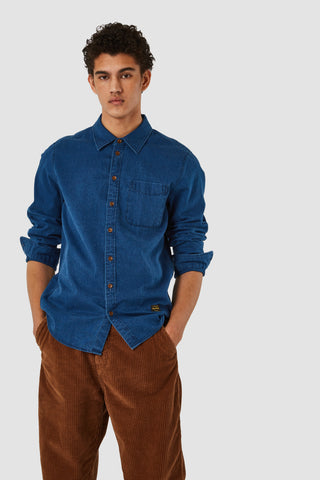 Enda Pocket Shirt (Mid Denim) - Kings of Indigo