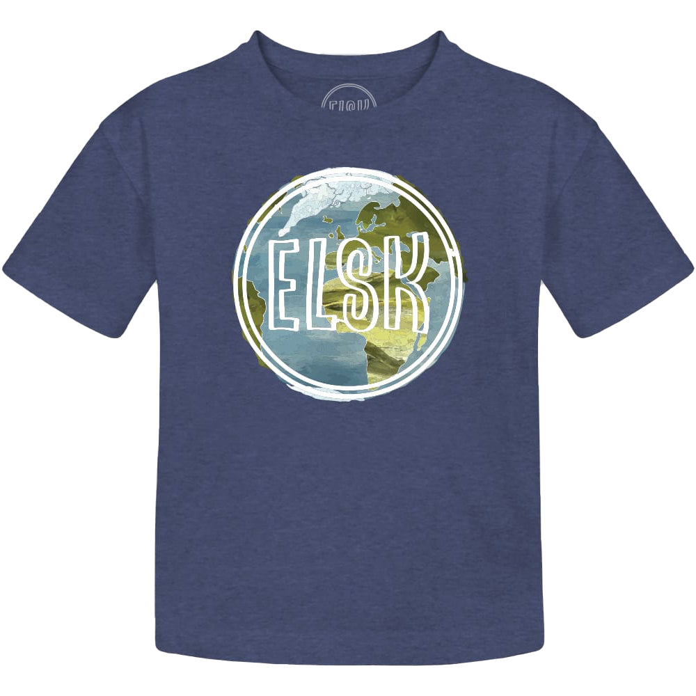 Earth Logo Kids T-shirt (Navy) - ELSK