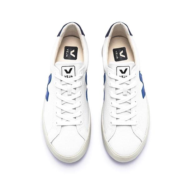 Esplar SE Canvas White Indigo Nautico - VEJA Shoes