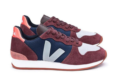 Holiday LT B Mesh Nautico Burgundy Oxford Grey - VEJA Shoes