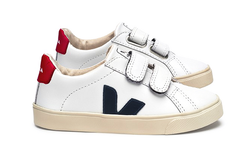 Esplar Kid Leather White Nautico - VEJA Shoes