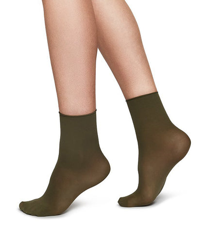2-Pack Judith Socks (Creme/Khaki) - Swedish Stockings