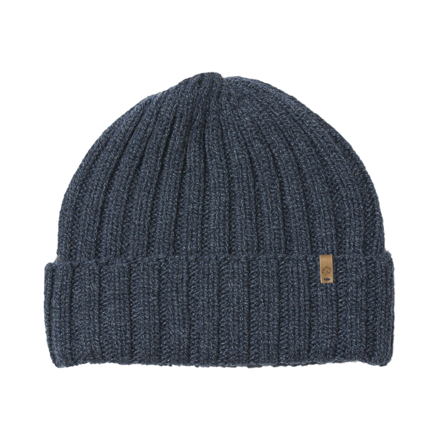 Merino Thick Rib Hat (Midnight Blue) - Dinadi
