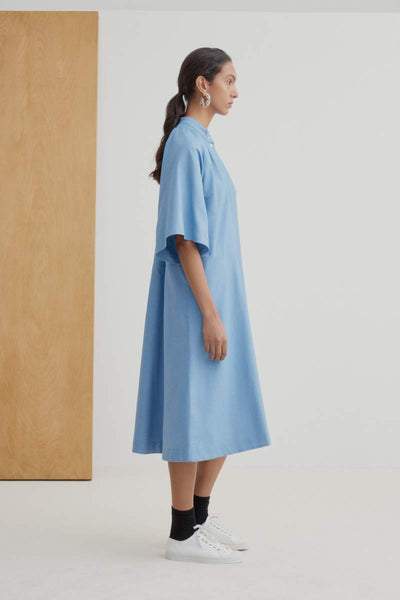 Observer Dress (Sky Chambray) - Kowtow