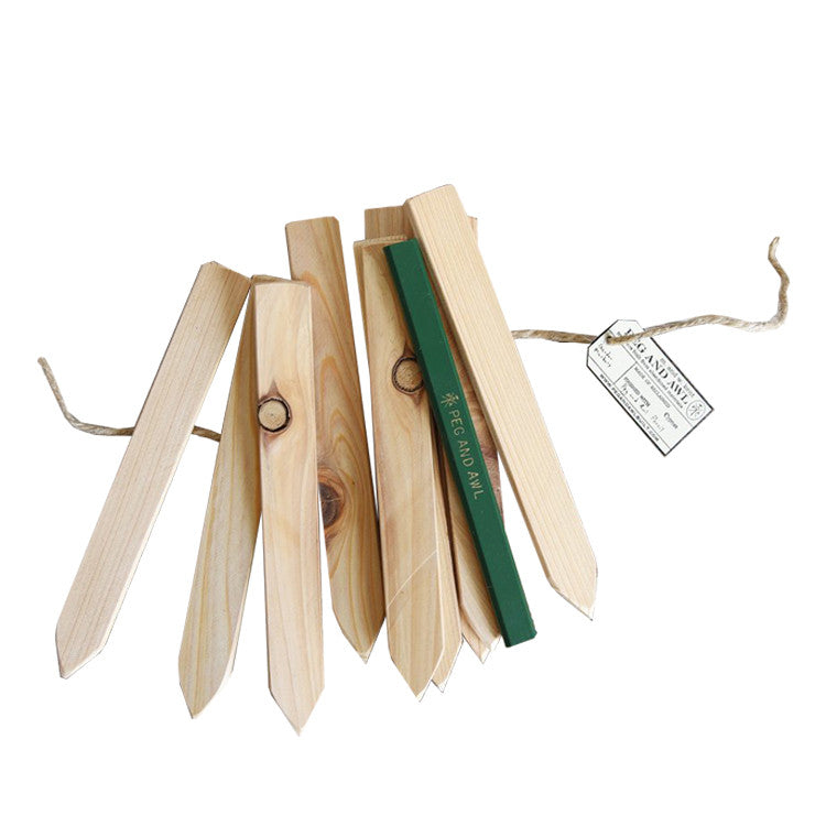 Garden Stakes Set of 10 - Peg and Awl