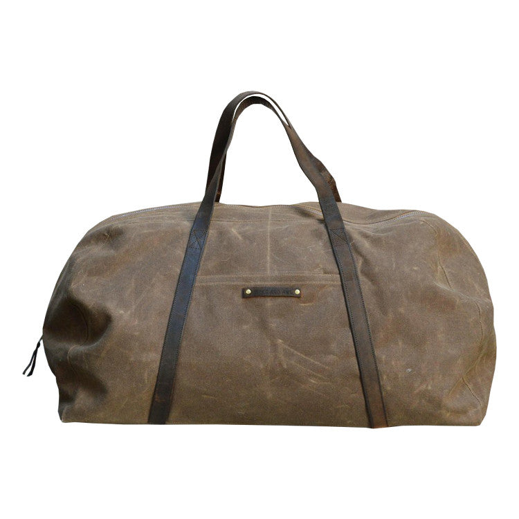 Waxed Canvas Weekender - Peg and Awl