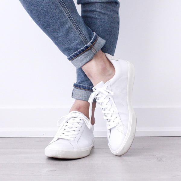 Esplar Low Leather Extra White WMNS - VEJA Shoes