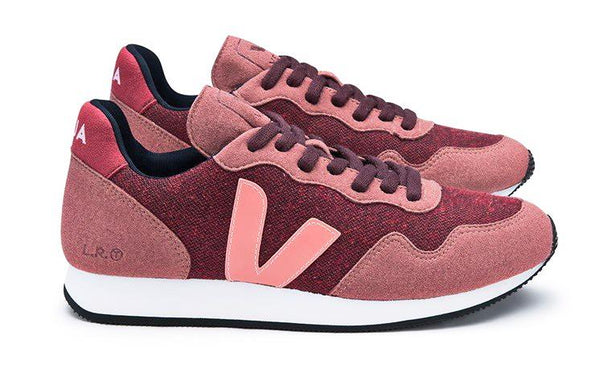 SDU Pixel Burgundy Dried Petal - VEJA Shoes